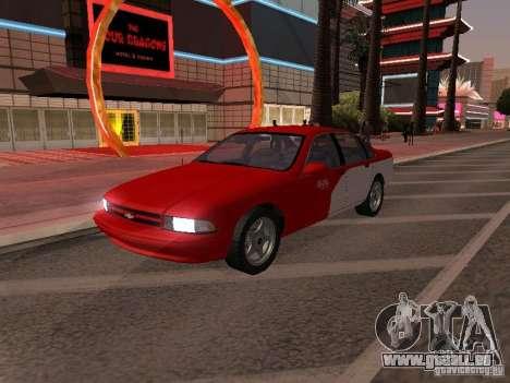 Chevrolet Impala SS 1995 pour GTA San Andreas vue de dessus