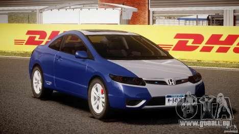 Honda Civic Si Coupe 2006 v1.0 für GTA 4 Rückansicht