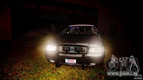 Ford Crown Victoria 2003 Florida CVPI [ELS] für GTA 4 Unteransicht
