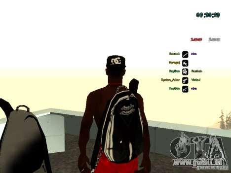 Sac à dos-parachute pour GTA: SA pour GTA San Andreas deuxième écran