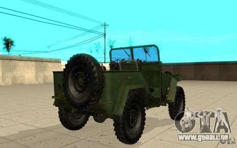 Gaz-67 pour GTA San Andreas sur la vue arrière gauche