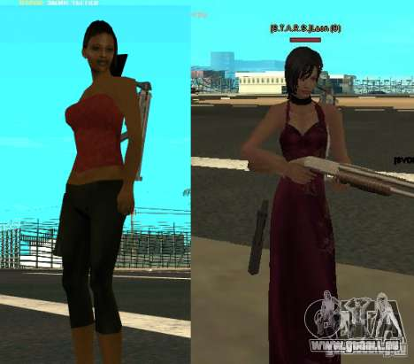 Pak personnages de Resident Evil pour GTA San Andreas deuxième écran
