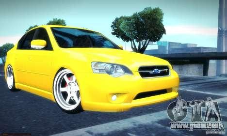 Subaru Legacy BIT edition 2004 pour GTA San Andreas sur la vue arrière gauche