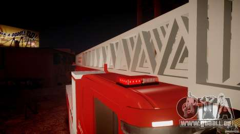 Scania Fire Ladder v1.1 Emerglights red [ELS] pour GTA 4 Salon