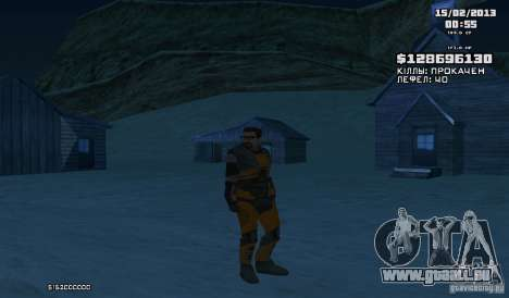Gordon Freeman für GTA San Andreas dritten Screenshot