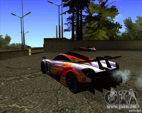 Pagani Huayra SHE pour GTA San Andreas laissé vue