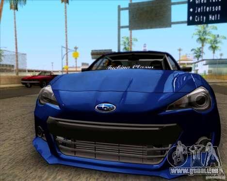 Subaru BRZ Stance pour GTA San Andreas laissé vue