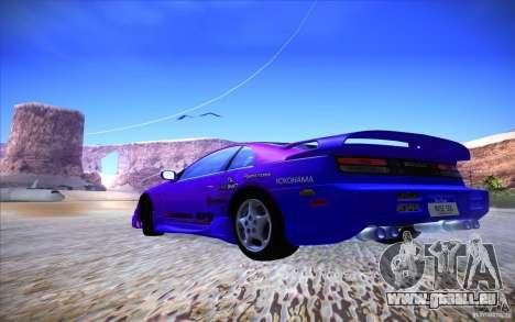 Nissan 300ZX Twin Turbo pour GTA San Andreas vue de dessous