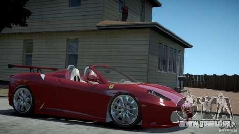 Ferrari F430 Spider pour GTA 4 Vue arrière de la gauche