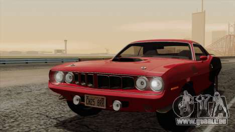 Plymouth Hemi Cuda 426 1971 pour GTA San Andreas moteur