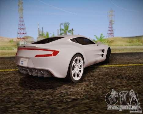 Aston Martin One-77 pour GTA San Andreas vue intérieure