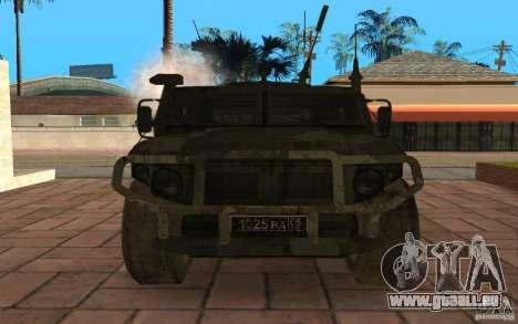 GAZ-2975-Tiger für GTA San Andreas Innenansicht