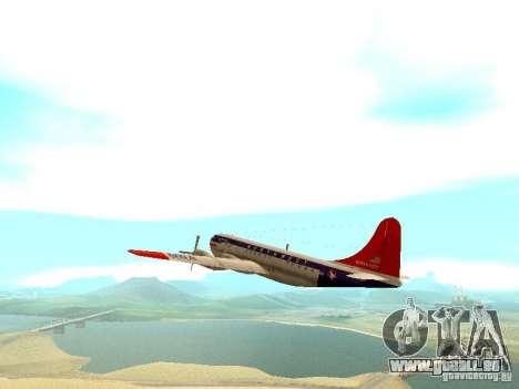 Boeing 377 Stratocruiser pour GTA San Andreas vue arrière