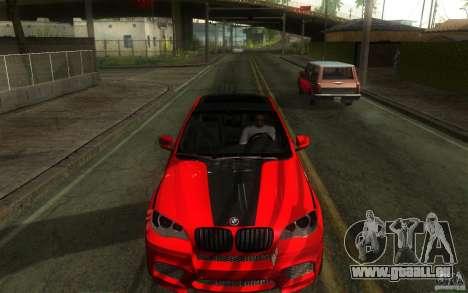 Bmw X6 M Lumma Tuning für GTA San Andreas Innenansicht
