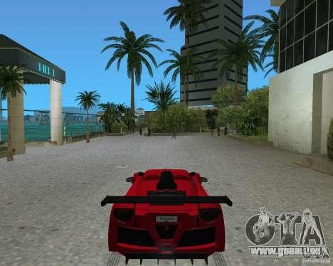 Gumpert Apollo Sport pour GTA Vice City sur la vue arrière gauche