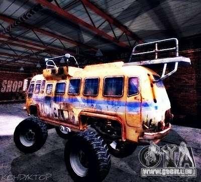Bullet Storm Bus für GTA San Andreas Rückansicht