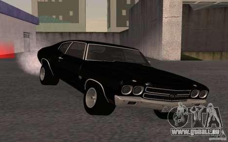 Chevrolet Chevelle SS für GTA San Andreas Rückansicht