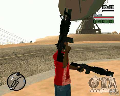 Black Ops Commando pour GTA San Andreas deuxième écran