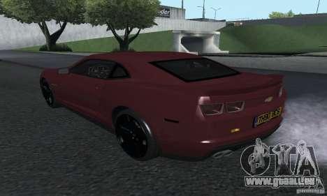 Chevrolet Camaro ZL1 2012 pour GTA San Andreas laissé vue