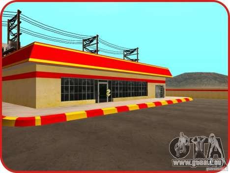Nouvelle station d'essence Shell pour GTA San Andreas cinquième écran