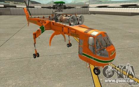 Sikorsky Air-Crane S-64E für GTA San Andreas