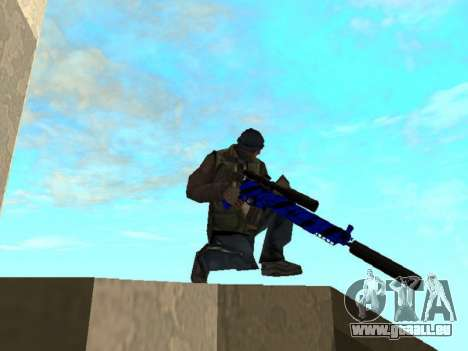 Blue and black gun pack für GTA San Andreas fünften Screenshot
