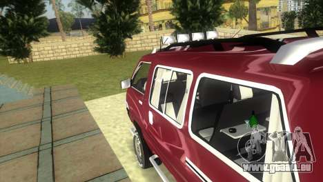 Toyota Town Ace-Tuning für GTA Vice City Rückansicht