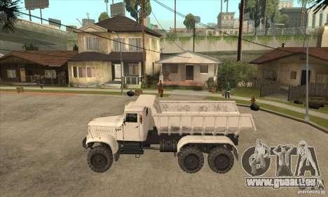 Camion à benne basculante KRAZ 225 pour GTA San Andreas laissé vue