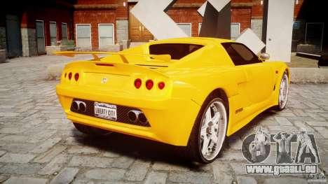 Watson R-Turbo Roadster pour GTA 4 Vue arrière de la gauche