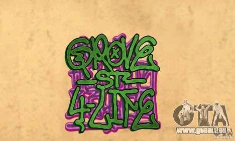 Neue Graffiti an den Wänden für GTA San Andreas zweiten Screenshot