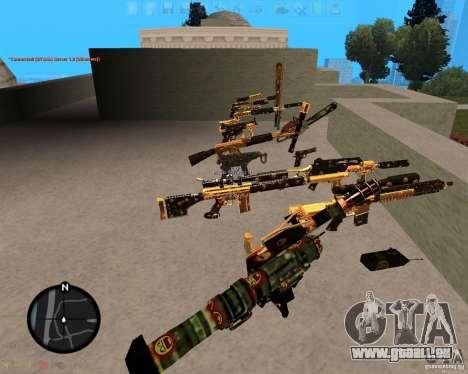 Smalls Chrome Gold Guns Pack für GTA San Andreas zweiten Screenshot