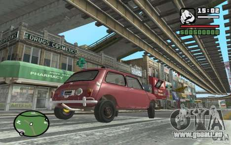 Mini Cooper S pour GTA San Andreas vue arrière