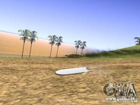Aèrobord du film Retour vers le futur 2 pour GTA San Andreas laissé vue
