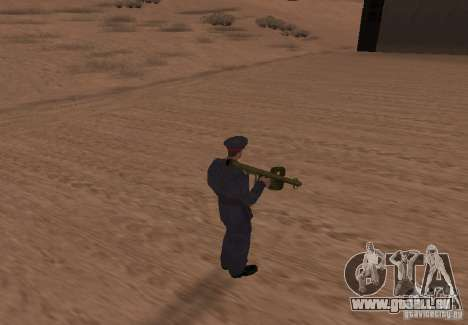 Panzerschreck pour GTA San Andreas troisième écran