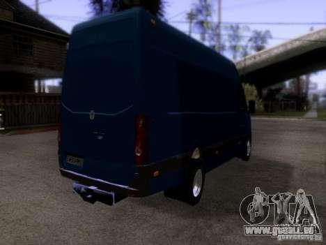 Volkswagen Crafter XL pour GTA San Andreas sur la vue arrière gauche