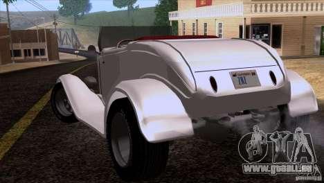 Ford Roadster 1932 pour GTA San Andreas vue de côté