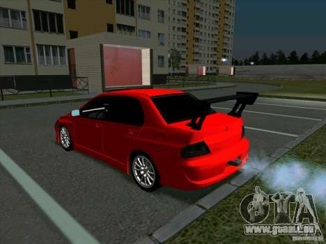 Mitsubishi Lancer Drift pour GTA San Andreas vue de droite