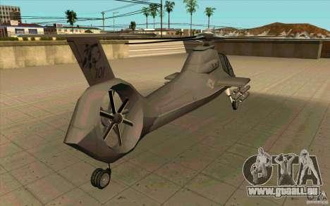 Sikorsky RAH-66 Comanche default grey pour GTA San Andreas vue arrière
