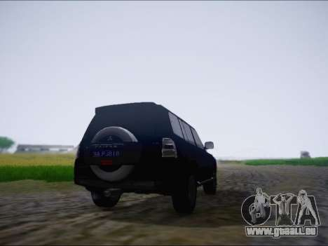 Mitsubishi Pajero 2012 pour GTA San Andreas vue de droite