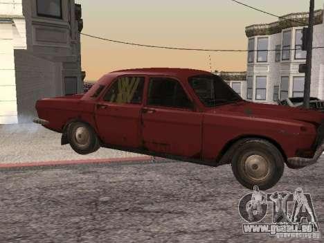 Volga Gaz M24-Rusty Tod für GTA San Andreas linke Ansicht