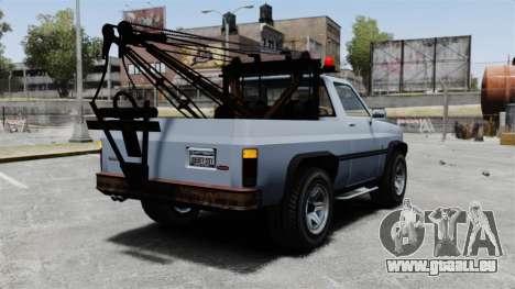 Rancher Tow Truck ELS für GTA 4 hinten links Ansicht
