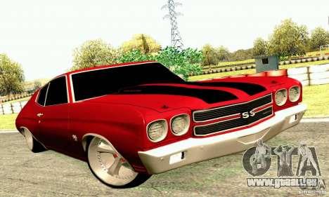 Chevrolet Chevelle 1970 pour GTA San Andreas vue intérieure