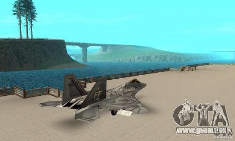 F-22 Starscream für GTA San Andreas zurück linke Ansicht
