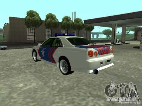 Nissan Skyline Indonesia Police pour GTA San Andreas laissé vue