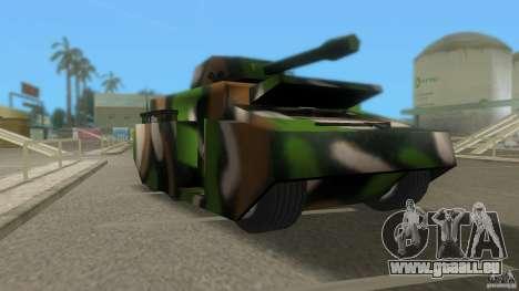 Bundeswehr-Panzer für GTA San Andreas linke Ansicht