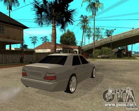 Mercedes-Benz W124 E500 95 für GTA San Andreas zurück linke Ansicht