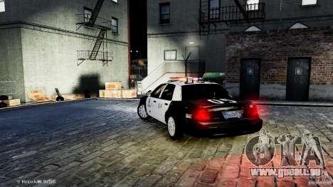 Ford Crown Victoria CVPI-K9 V6.9A-LAPD-ELS pour GTA 4 Vue arrière de la gauche