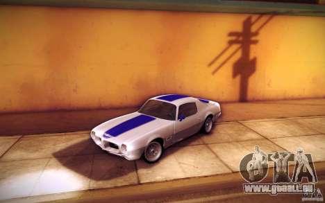 Pontiac Firebird 1970 für GTA San Andreas Innen
