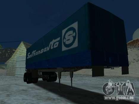 Remorque pour Kamaz 5410 pour GTA San Andreas vue arrière