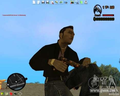 Smalls Chrome Gold Guns Pack pour GTA San Andreas septième écran